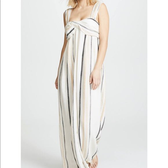 9919dfa369a9 Free People Pants - NWOT Free People Breezin  Through Striped Jumpsuit